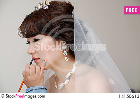 Free Wedding Makeup Stock Photos - 14150613