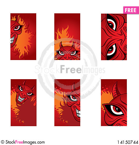 Free Nightmare Horror Scary Cards Stock Images - 14150744