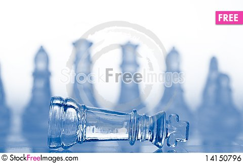 Free Glass Chess Pieces With Blue Light Royalty Free Stock Image - 14150796