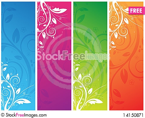 Free Floral Banners Stock Image - 14150871