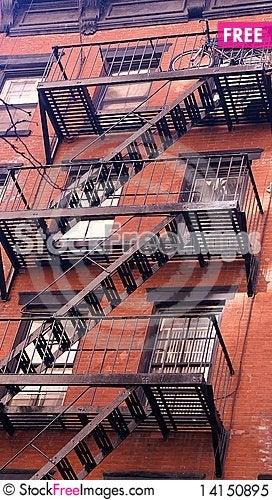 Free New York Stairs Royalty Free Stock Photo - 14150895