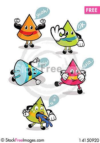 Free Cone-Shaped Cartoons Stock Photo - 14150920