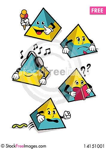 Free Pyramid-Shaped Cartoons Stock Image - 14151001