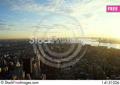 Free New York Sunset Royalty Free Stock Image - 14151026