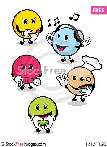 Free Sphere-Shaped Cartoons Stock Photo - 14151120
