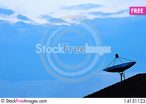 Free Satellite On The Roof. Stock Photos - 14151123