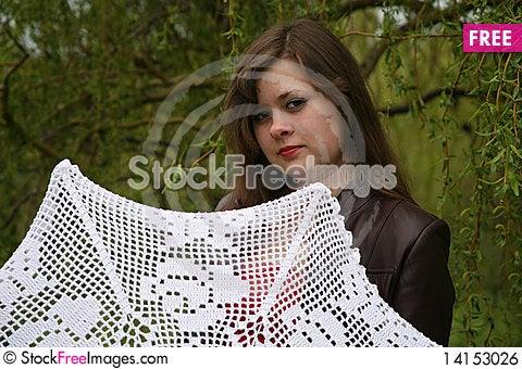 Free Portrait With Umbrella Royalty Free Stock Image - 14153026