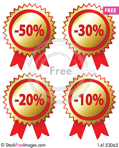 Free Sale Stickers Royalty Free Stock Photo - 14153065