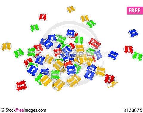Free Casino Chips Royalty Free Stock Photo - 14153075