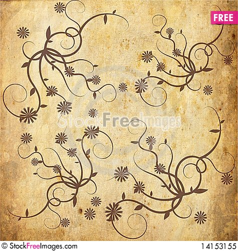 Free Floral  Background Royalty Free Stock Photo - 14153155