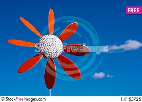 Free Plastic Flower Windmill Royalty Free Stock Photo - 14153725