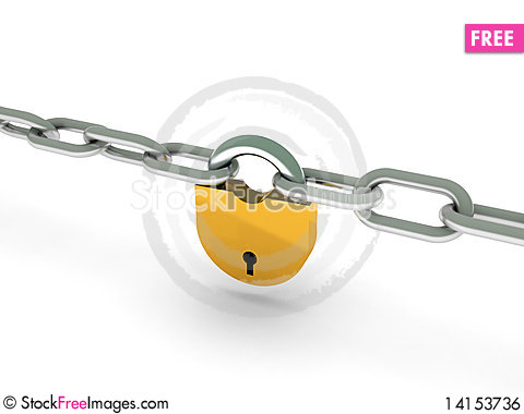 Free Chains With Lock Royalty Free Stock Image - 14153736