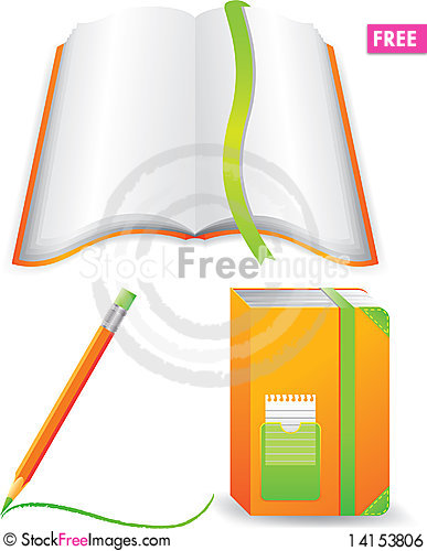 Free Notebooks With Pencil Royalty Free Stock Image - 14153806