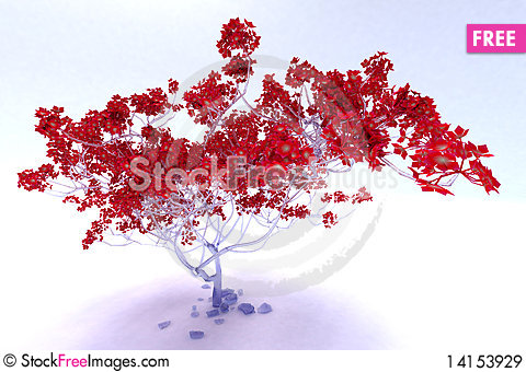 Free Icy Tree Royalty Free Stock Images - 14153929