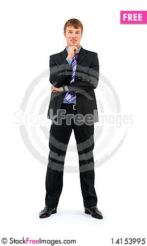 Free Full Length Of A Smiling Young Businessman Royalty Free Stock Photo - 14153995