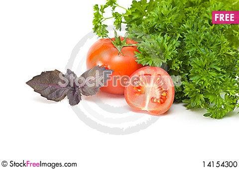 Free Parsley, Basil And Tomato Stock Photo - 14154300