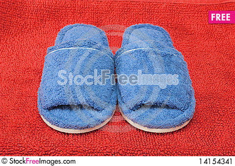 Free Blue Slippers Stock Image - 14154341