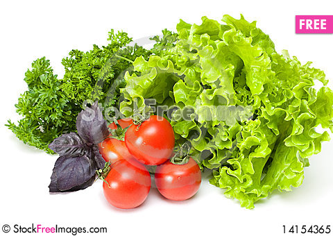 Free Tomato With Parsley And Salad Royalty Free Stock Photo - 14154365