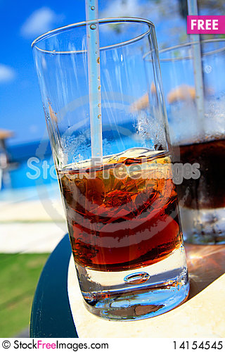 Free Cuba Libre Cocktelle In Caribbean Royalty Free Stock Photo - 14154545