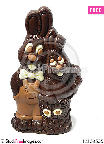 Free Chocolate Rabbit Royalty Free Stock Photo - 14154555