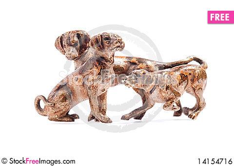 Free Dogs On A White Background Royalty Free Stock Image - 14154716