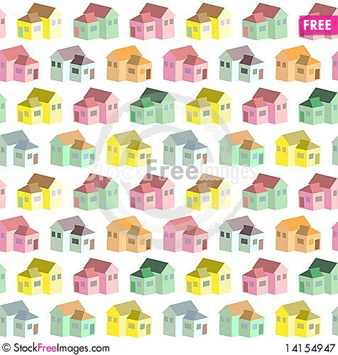 Free Pattern With Houses Royalty Free Stock Photography - 14154947