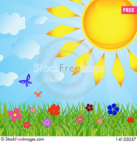 Free Summer Background Royalty Free Stock Photography - 14155057
