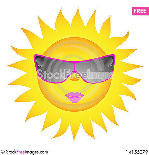 Free Sun Icons. Vector Illustration Royalty Free Stock Images - 14155079