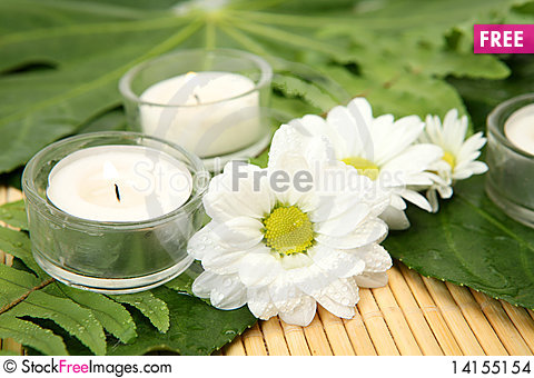 Free Flowers And Candles Stock Images - 14155154