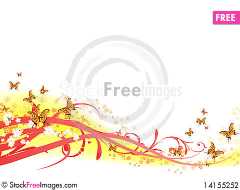Free Floral Background_2 Stock Photography - 14155252