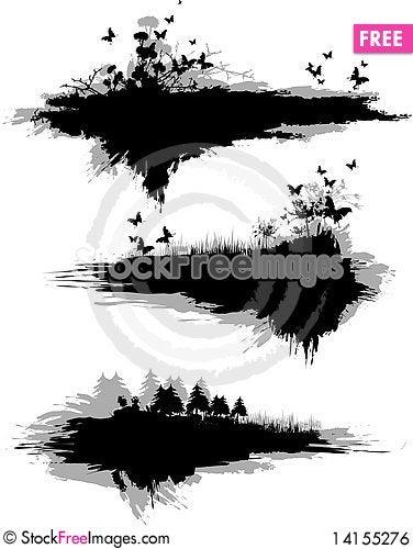 Free Grunge Bunner_6 Royalty Free Stock Image - 14155276