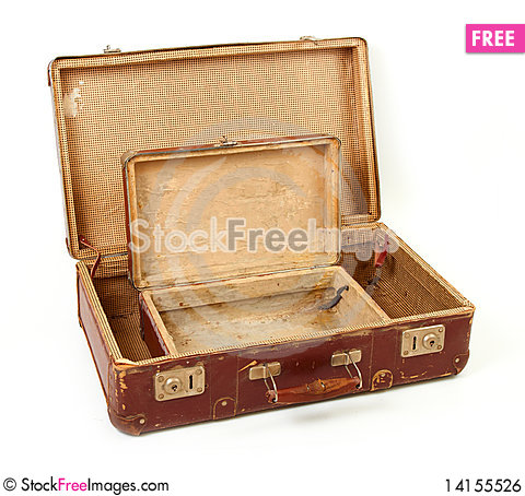 Free Two Old Suitcases For Travel Royalty Free Stock Image - 14155526