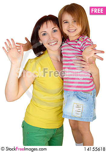 Free Happy Mother With Little Daughter Royalty Free Stock Photos - 14155618