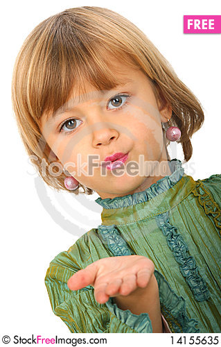 Free Little Charming Girl Royalty Free Stock Photo - 14155635