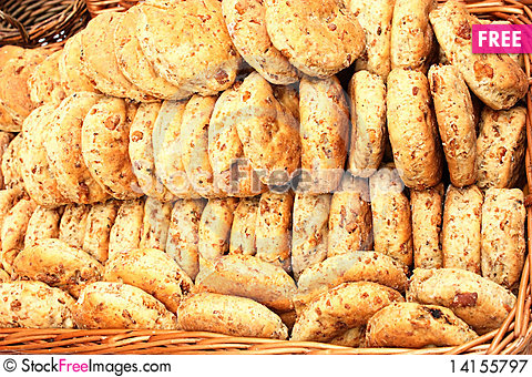 Free Biscuits With Cracklings Royalty Free Stock Photography - 14155797