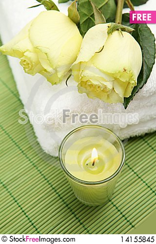 Free Roses And Candles Royalty Free Stock Photo - 14155845