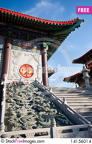 Free The Dragon Carve Stair Stock Images - 14156014