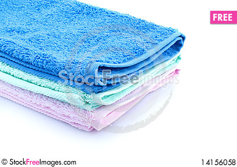 Free Color Towels Royalty Free Stock Photos - 14156058
