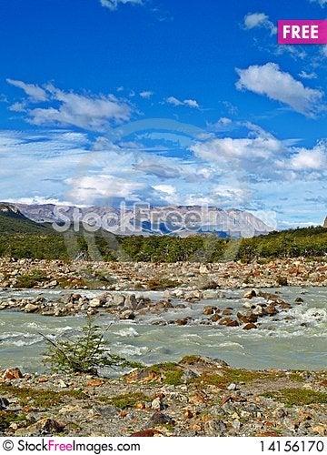 Free FitzRoy River, Cerro Torre, El Chalten,Argentina Stock Photo - 14156170