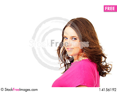 Free Beautiful Girl With Place For Text Stock Photography - 14156192