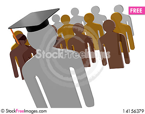 Free Scholar Leader Icon Symbol Royalty Free Stock Images - 14156379