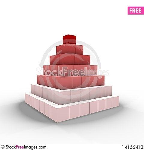 Free A Pyramid Of Cubes - A 3d Image Stock Photos - 14156413