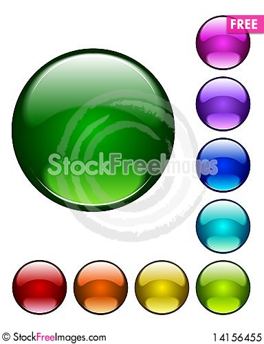 Free Web Buttons, Set Royalty Free Stock Photo - 14156455