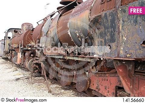 Free Locomotive Graveyard Stock Photo - 14156660