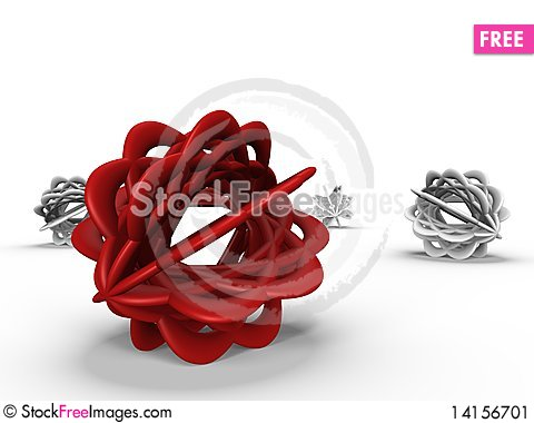 Free Abstract Objects In Isolated - A 3d Image Stock Image - 14156701