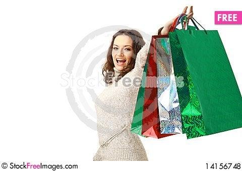Free Woma Holding Shopping Royalty Free Stock Photos - 14156748