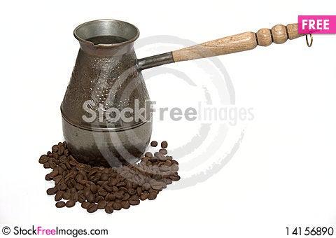 Free Cezva And Coffee Beans Stock Photo - 14156890