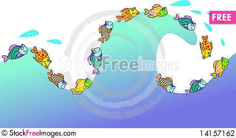 Free Playing Fishes Stock Photography - 14157162