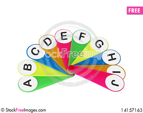 Free Fan For Studying Of Letters Stock Photos - 14157163