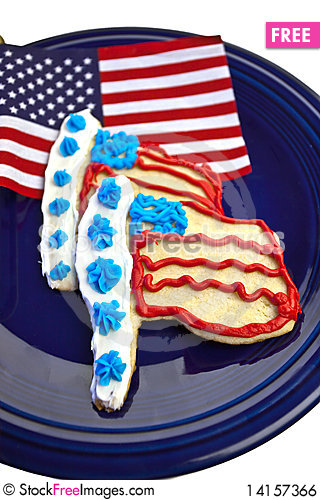 Free Flag Cookies Royalty Free Stock Image - 14157366